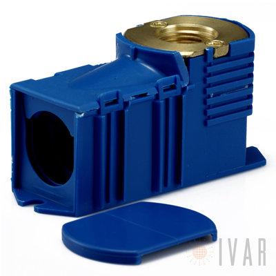 Inbouwdoos BEGETUBE 1/2Fx16/2mm PERS blauw GRATIS BEGETUBE BEVESTIGINGSPLAAT