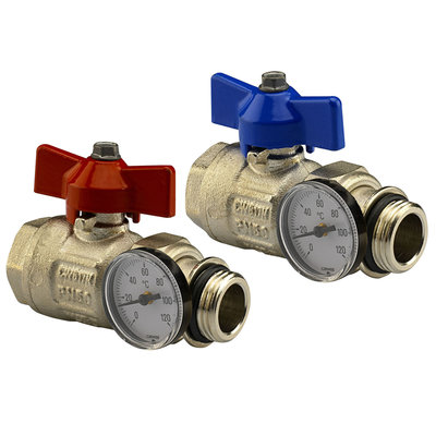 Begetube set bolkranen met richtbare insteekthermometers 4/4